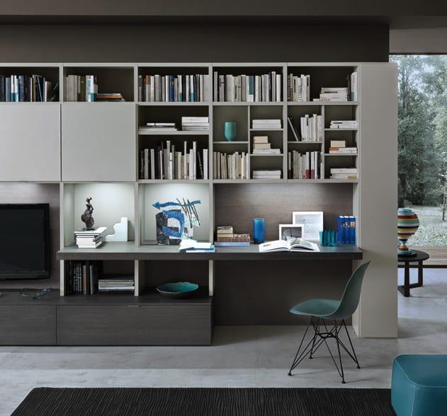 Libreria moderna componibile soggiorno