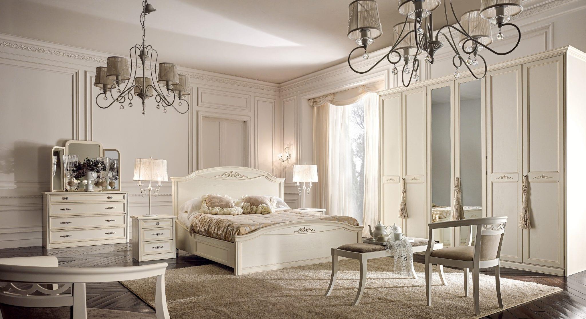 Camera da letto stile country