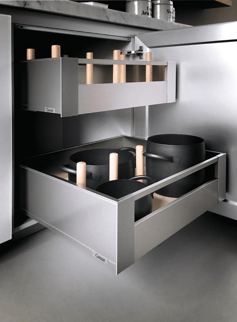 Spazio in cucina 6 soluzioni per avere cucine super for Piani di casa modulari con suite di lavoro