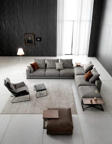 divano ananta class saba panoramica dall'alto