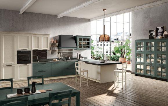 cucina beverly stosa composizione con penisola